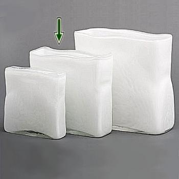 Collection DutZ® vase/récipient rectangulaire, h 25 x L 25 x l 8 cm, blanc