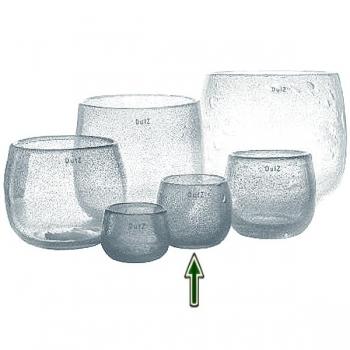 DutZ®-Collection Vase Pot, h 11 x Ø 13 cm, clear with bubbles