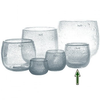 DutZ®-Collection Vase Pot, H 14 x Ø 16 cm, Klar mit Bubbles