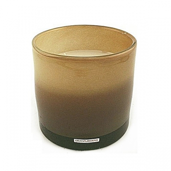 Henry Dean Candle/Wind Light Cylinder, 3 wicks, h 15 x Ø 15 cm, Taupe
