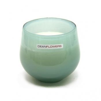 Henry Dean Candle/Wind Light Clovis, 1 wick, h 9 x Ø 9.5 cm, Glacon