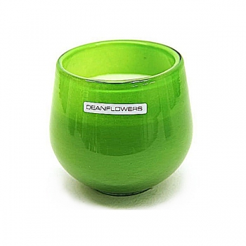 Henry Dean Candle/Wind Light Clovis, 1 wick, h 9 x Ø 9.5 cm, Apple Green
