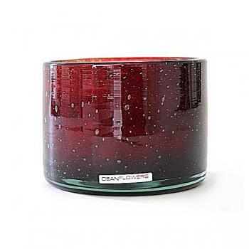 Henry Dean Candle/Wind Light Cylinder, 3 wicks, h 10 x Ø 13.5 cm, Garnet