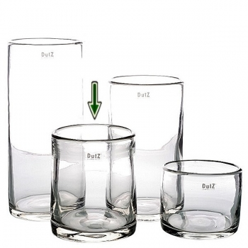 Collection DutZ® vase Cylinder, h 19 x Ø 15 cm, transparent