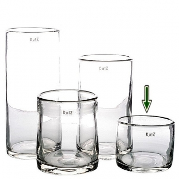DutZ®-Collection Vase Cylinder, h 12 x Ø 15 cm, clear