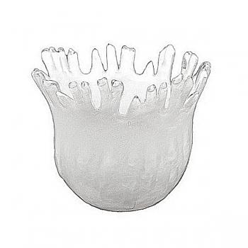 DutZ®-Collection Vase Fingers, h 20 x Ø 30 cm, white with bubbles
