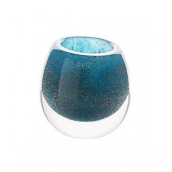 DutZ®-Collection Vase Bubble, h 18 x Ø 18 cm, blue petrol with bubbles