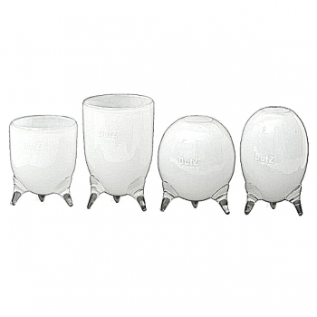DutZ®-Collection Vases Set Evita, 4 different tripod vases, h 12/14/15/16 x Ø 9.5 cm, white