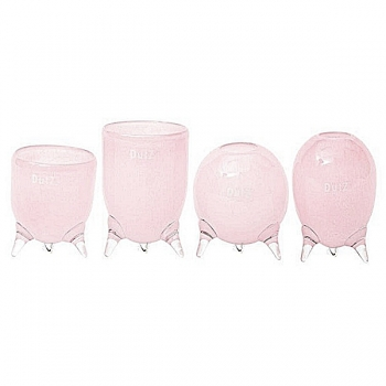 DutZ®-Collection Vases Set Evita, 4 different tripod vases, h 12/14/15/16 x Ø 9.5 cm, pink