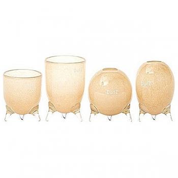 DutZ®-Collection Vases Set Evita, 4 different tripod vases, h 12/14/15/16 x Ø 9.5 cm, beige