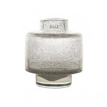 DutZ®-Collection Vase Diva, h 18 x Ø 16 cm, clear with bubbles