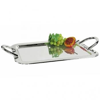 Edzard Tray Varo, with 2 handles, shiny silver plated, l 59 x w 36 cm