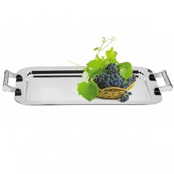 Edzard Tray Nano, with 2 handles, shiny silver plated, l 58 x w 41 cm