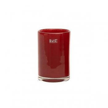 Collection DutZ® vase Cylinder, h 18 x Ø 12 cm, rouge