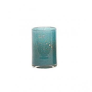 DutZ®-Collection Vase Cylinder, h 18 x Ø 12 cm, blue petrol with bubbles