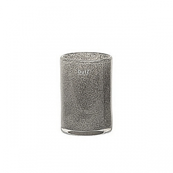 DutZ®-Collection Vase Cylinder, h 18 x Ø 12 cm, medium grey with bubbles