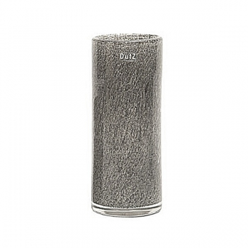 DutZ®-Collection Vase Cylinder, H 30 x Ø 12 cm, Mittelgrau mit Bubbles