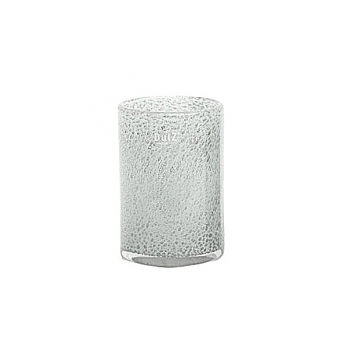 DutZ®-Collection Vase Cylinder, h 18 x Ø 12 cm, white with bubbles