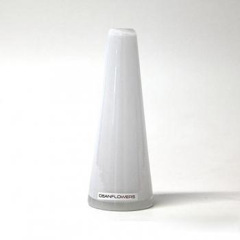 Henry Dean Vase Poppy, H 16 x Ø 6 cm, Bianco