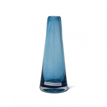 Henry Dean Vase Poppy, h 16 x Ø 6 cm, Lagoon