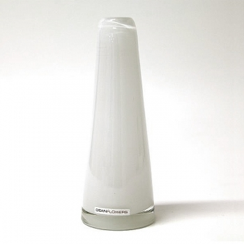 Henry Dean Vase Poppy, H 22 x Ø 7 cm, Bianco