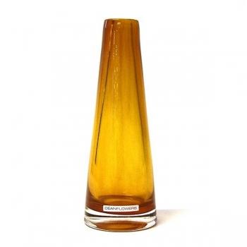 Henry Dean Vase Poppy, H 22 x Ø 7 cm, Cognac