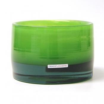 Henry Dean Vase/Windlight Charlotte, low, h 11 x Ø 16 cm, Apple Green