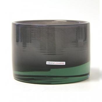 Henry Dean Vase/Windlight Charlotte, low, h 11 x Ø 16 cm, Heron