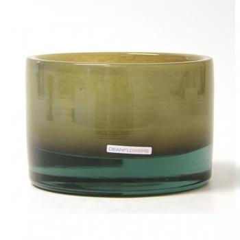 Henry Dean Vase/Windlight Charlotte, low, h 11 x Ø 16 cm, Taupe