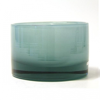 Henry Dean Vase/Windlight Charlotte, low, h 11 x Ø 16 cm, Glacon