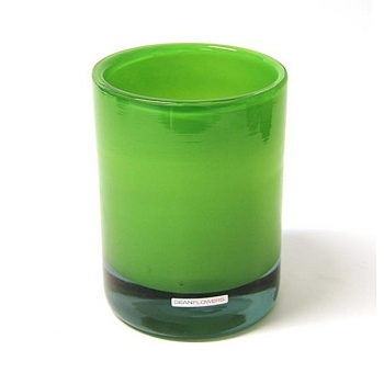 Henry Dean Vase/Windlight Charlotte, high, h 17 x Ø 13 cm, Apple Green