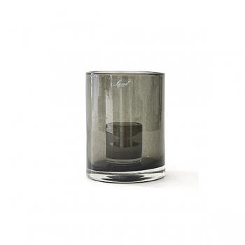 Henry Dean Windlicht Tournon XXS, H 15,5 x Ø 10 cm, Gray Smoke