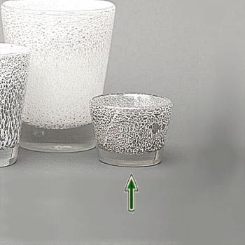DutZ®-Collection Vase Conic with bubbles, h 10  x  Ø.13 cm, white