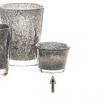 DutZ®-Collection Vase Conic with bubbles, h 10  x  Ø.13 cm, medium grey