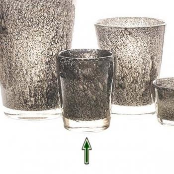 DutZ®-Collection Vase Conic with bubbles, h 19  x  Ø.15 cm, medium grey