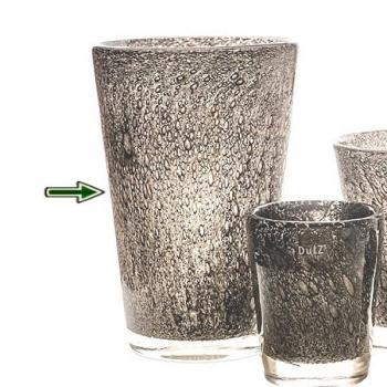 DutZ®-Collection Vase Conic with bubbles, h 36  x  Ø.24 cm, medium grey