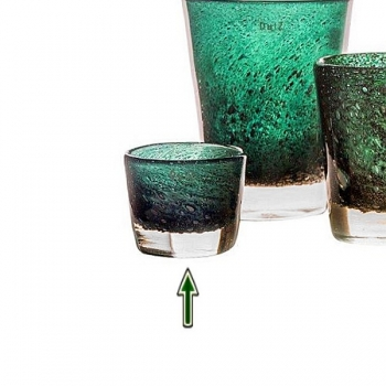 DutZ®-Collection Vase Conic with bubbles, h 10  x  Ø.13 cm, dark green