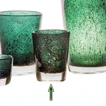 DutZ®-Collection Vase Conic with bubbles, h 19  x  Ø.15 cm, dark green