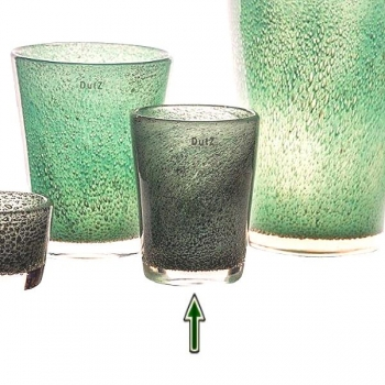 DutZ®-Collection Vase Conic with bubbles, h 19  x  Ø.15 cm, jade
