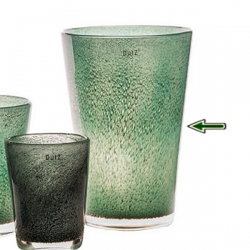 DutZ®-Collection Vase Conic with bubbles, h 36  x  Ø.24 cm, jade