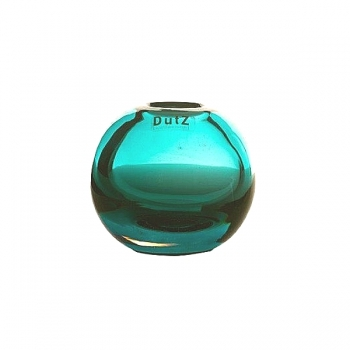 DutZ®-Collection Vase Hoola round, h 11 x Ø 12 cm, Lagoon/Clear