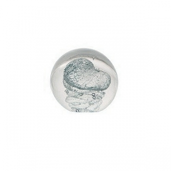 DutZ®-Collection Glass Ball/Paper Weight, Ø 10 cm, Blue/Clear