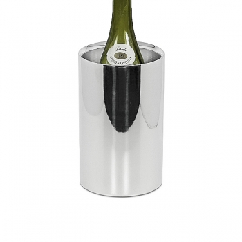 Edzard Wine-Cooler Nebraska, shiny polished stainless steel, double walled, h 20 x Ø 12 cm