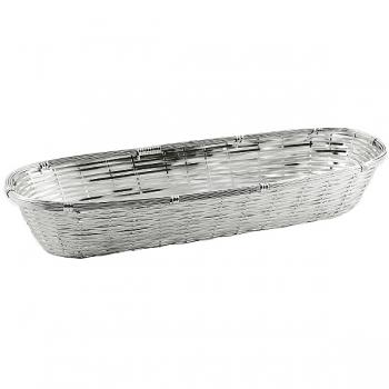 Edzard Korb Basket, glänzend versilbert, anlaufgeschützt, L 34 x B 13 x H 6 cm