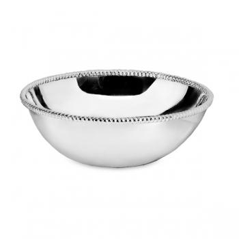 Edzard Bowl San Diego, polished, shiny QualiPlated® with silver, h 9 x Ø 28 cm