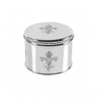 Edzard Tea Can Lilies, shiny QualiPlated® with silver, h 8 x Ø 12 cm