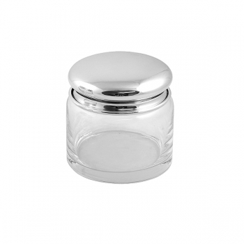 Edzard Storage Glass Carma, shiny QualiPlated® with silver, h 9 x Ø 8 cm