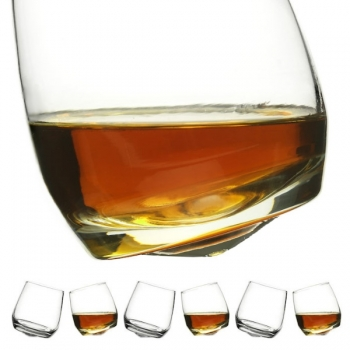 Sagaform 6 whisky glasses Tumbler with conical bottom, capacity: 20 cl