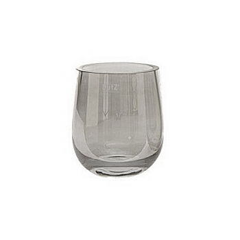 DutZ®-Collection Vase Kate, bellied, extra thick, h 18 x Ø 15.5 cm, smoke