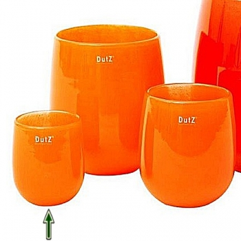 Collection DutZ® Vase Barrique, h 13 x Ø 10 cm, orange